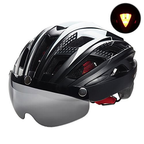 VICTGOAL Bike Helmet for Men Women with Safety Led Back Light Detachable Magnetic Goggles Visor
