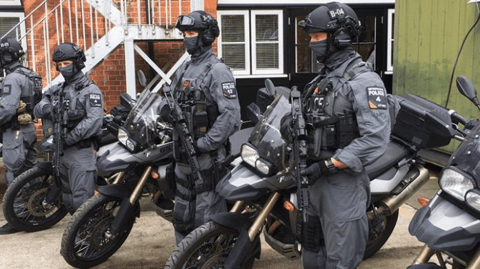 Armed Motorcycle Police