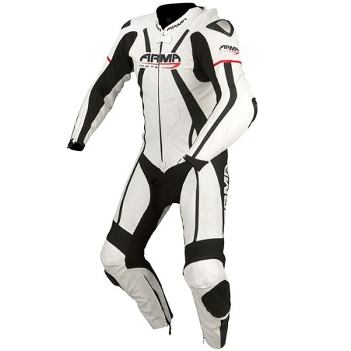 Cheapest ARMR Moto Harada R One Piece Leather Suit - White / Black / Red Price Comparison