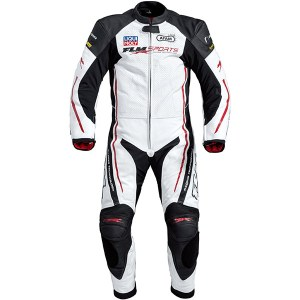 Cheapest FLM Pace Racetrack 1 Piece Leather Suit - White Price Comparison