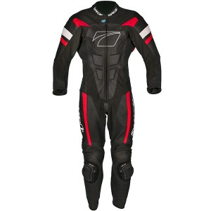 Cheapest Spada Curve Evo 1 Piece Leather Suit - Black / Fire Red Price Comparison