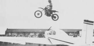 stunt motorcyclist
