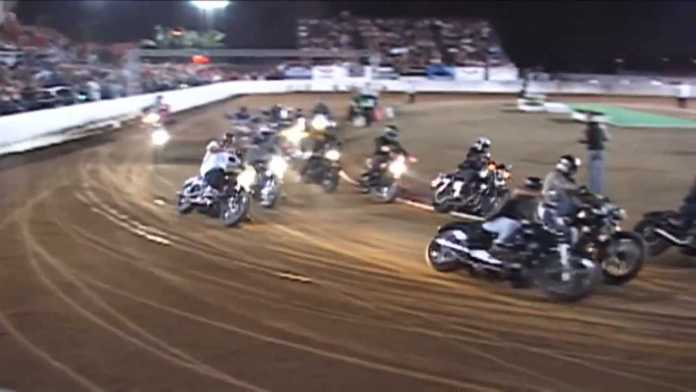 Watch These Street Harleys Tackle Flat Track
