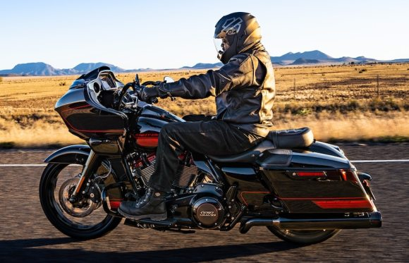 Person riding the Harley Davidson CVO Road Glide