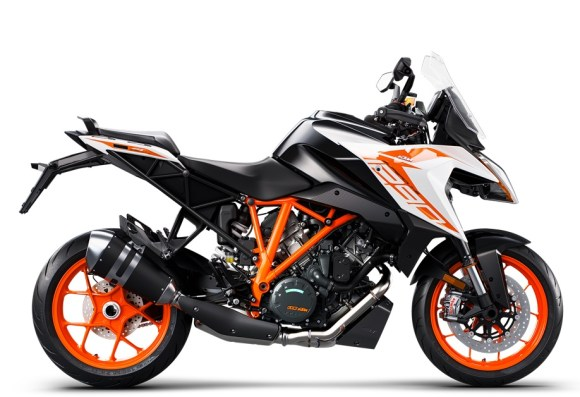 KTM Super Duke 1290 GT on a white background