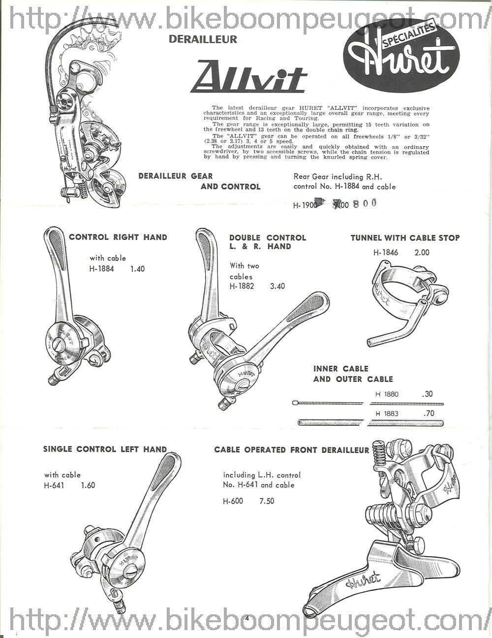 Peugeot 1963 USA Parts Acessories Brochure