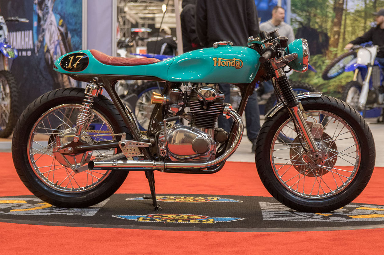 hight resolution of andrew certainly accomplished his goal recently the bike took first place in the modified retro class at the cleveland international motorcycle show and