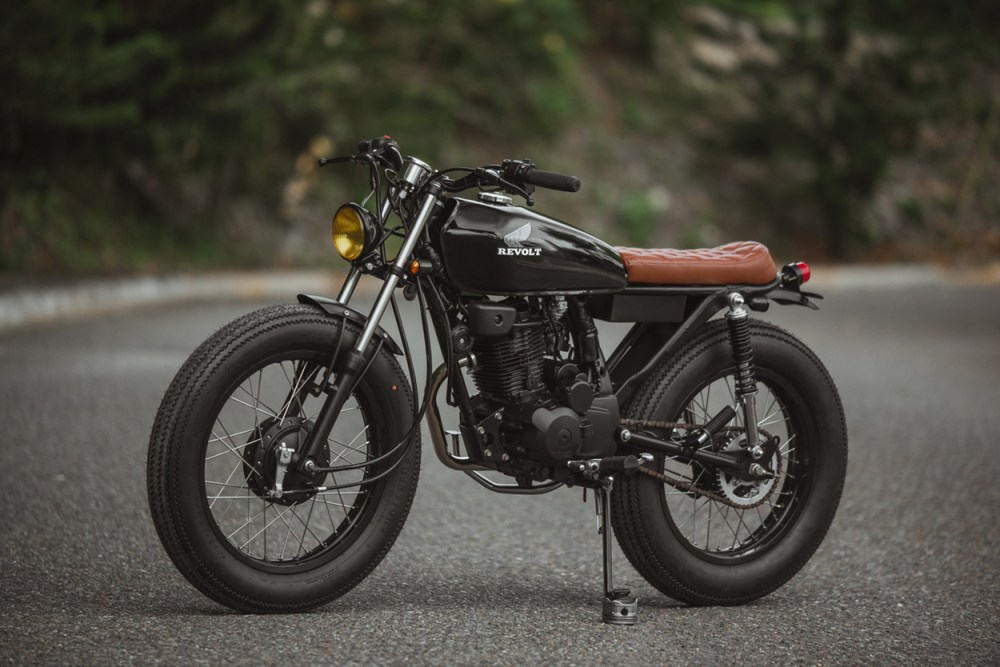 medium resolution of now the crew is back with an rvlt32 blanko a honda 125 brat tracker built for the daily commute below we get the full story on the build