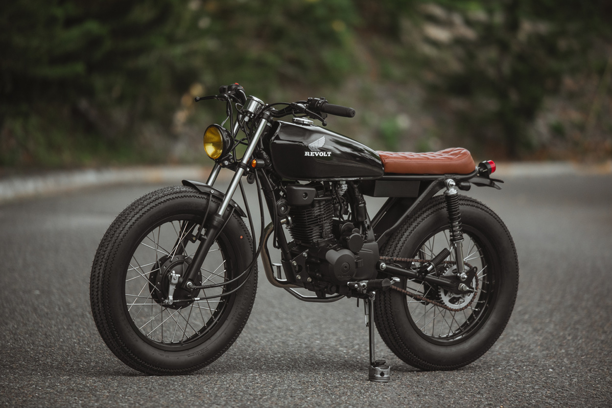 hight resolution of now the crew is back with an rvlt32 blanko a honda 125 brat tracker built for the daily commute below we get the full story on the build