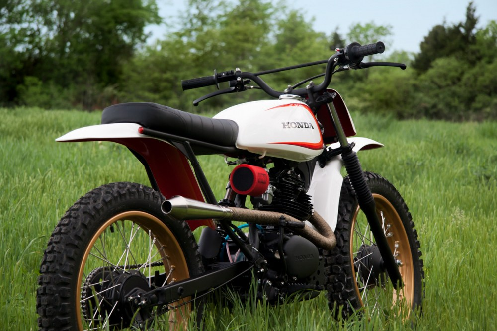 medium resolution of the result is a beautiful 125cc honda scrambler sporting a vintage honda cb125 engine in an xr80 frame the mashup of honda cb cl sl xr parts looks