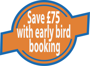 Offer is for bookings made up to 3 months before the event