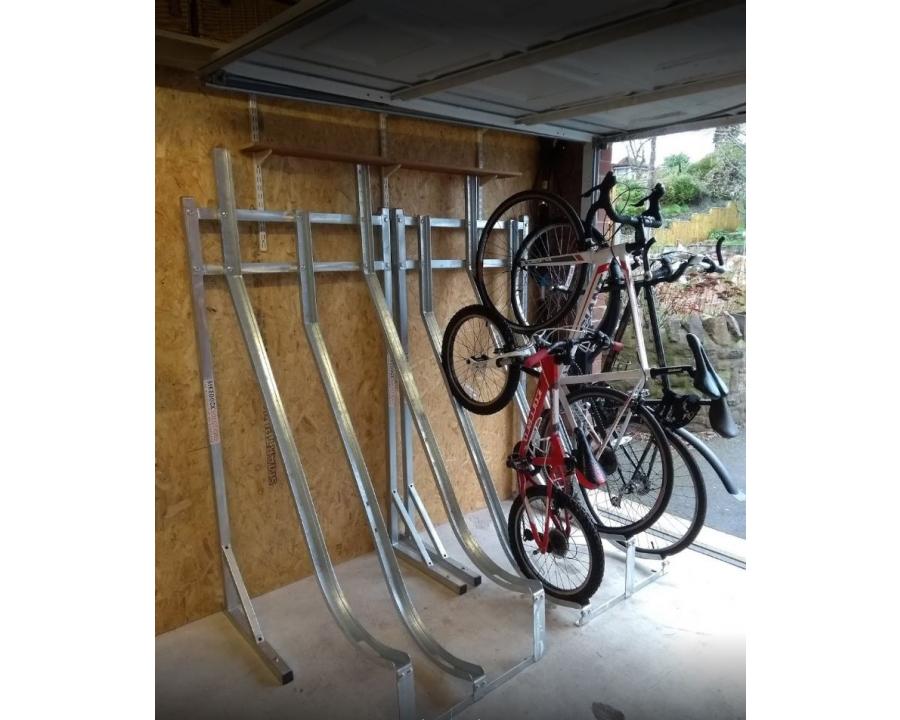 semi vertical bike rack frame bike racks