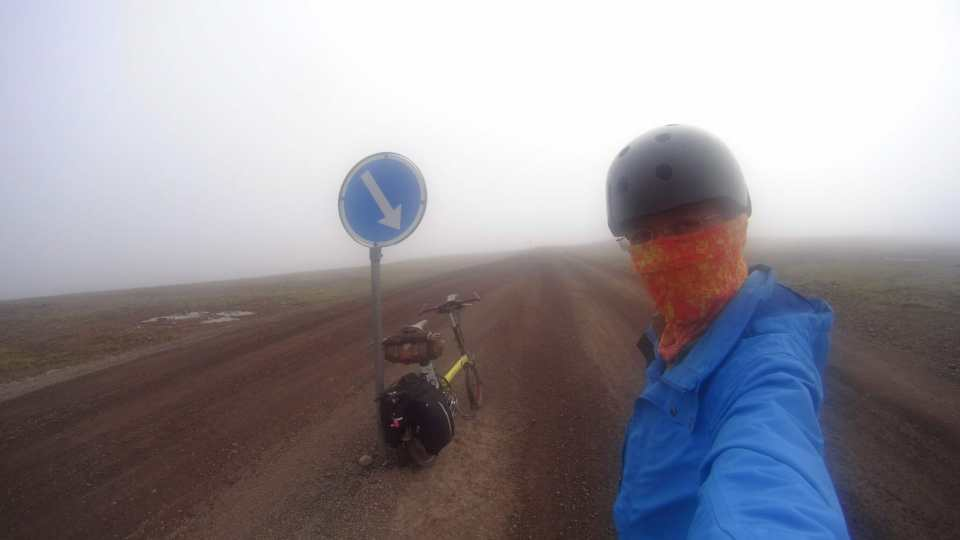 Cycling in Iceland's harsh summer weather