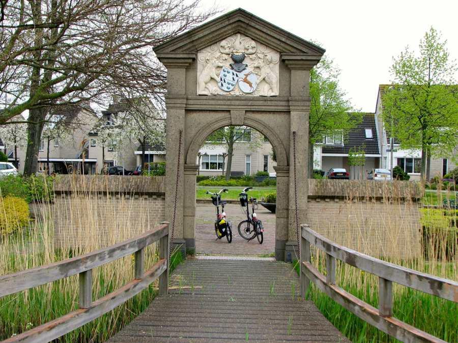 folding bikes on a bridge in the netherlands