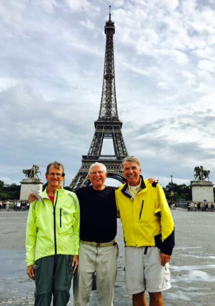 Biking to the Eiffel Tower in France