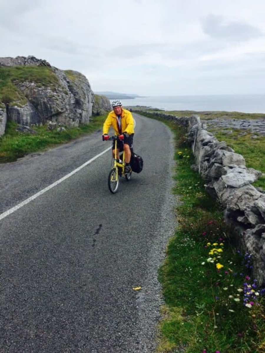 bike touring in Ireland on a folding bike