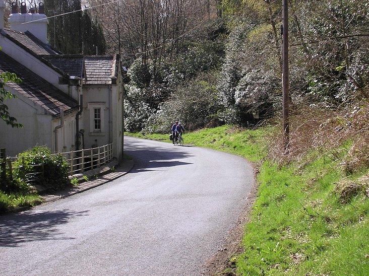 Whinlatter Pass from the Braithwaite side, just before the 15% ramp starts