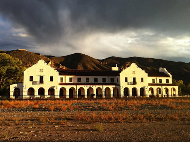 The old train depot in Caliente, Nevada. Photo: Joey Klein