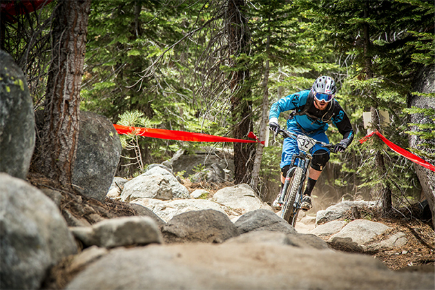 Tom Doran charging the stage 3 rock garden. PHOTO: Called to Creation.