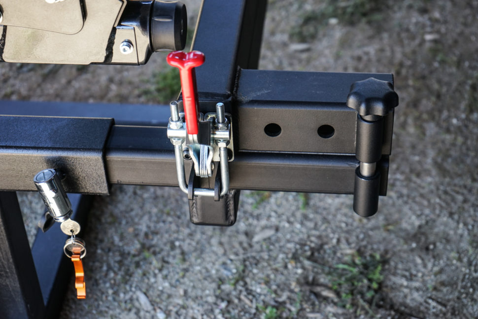 The K U00fcat Pivot Allows Any 2 U0026quot  Hitch Rack To Swing Away
