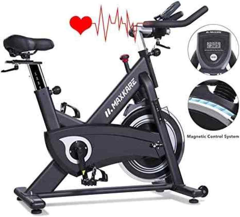 MaxKare Magnetic Exercise Bike Belt Drive Indoor Cycling Bike