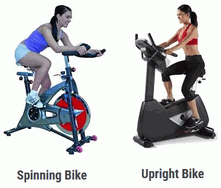spinning bike vs upright bike