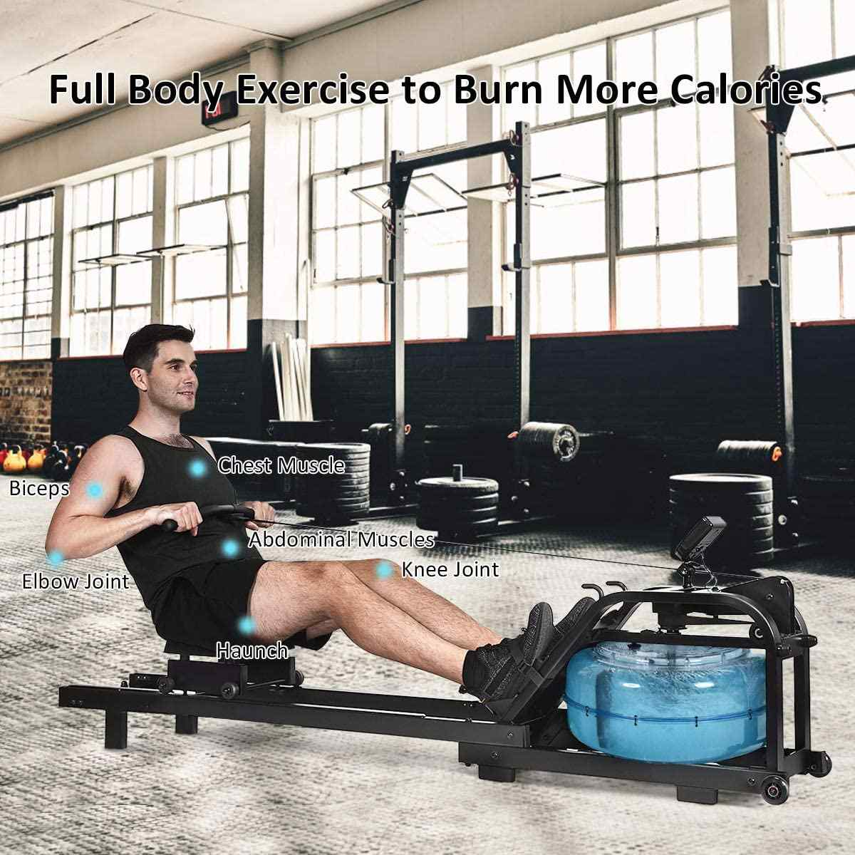 GYMAX Water Rowing Machine