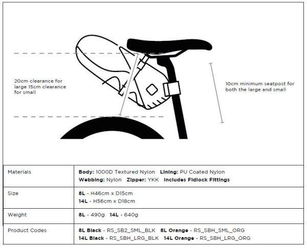 Restrap bikepacking zadeltas