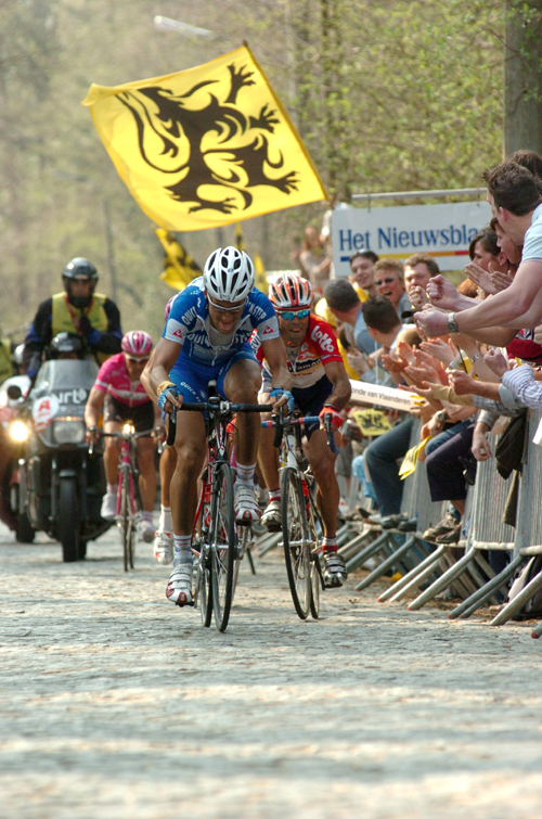 Boonen in the 2005 Tour of Flanders