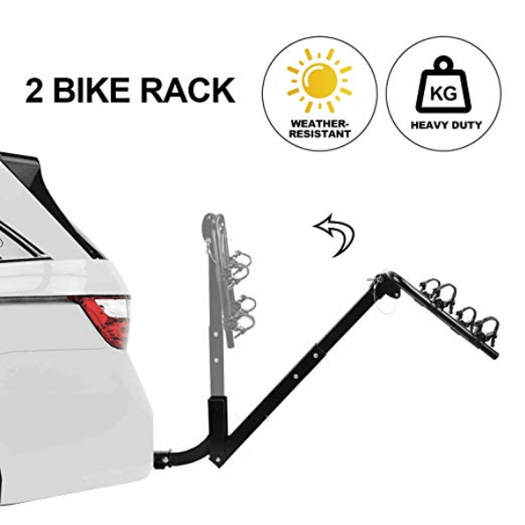 2 Bike Bicycle Carrier Hitch 2/'/' Receiver  Heavy Duty Mount Rack Truck SUV