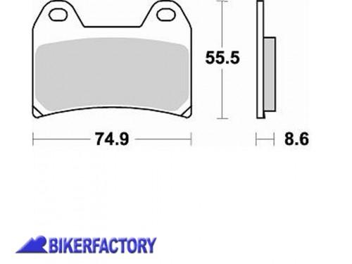 Pastiglie anteriori BRAKING serie CM66 RACING art. BR.784CM66