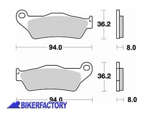 Pastiglie anteriori / posteriori BRAKING semi metalliche