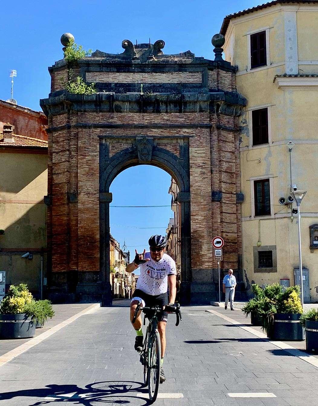 Gravel bike tour Siena to Rome Campagnano