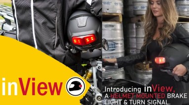 inview motorcycle helmet brake light and turn signal get the inview
