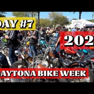 DAY #7 2021 DAYTONA BIKE WEEK / MAIN STREET/ WILLIE'S TROPICAL TATTOO/ BATTLE OF THE BAGGERS  IN 4K