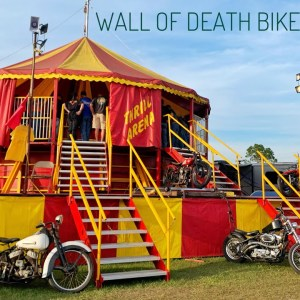 Wall of Death at the Cabbage Patch during Daytona Bike Week 2021. 1924 Indian Motorcycle