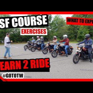 MSF Basic Rider Course Exercises | Riding Academy | Learn To Ride