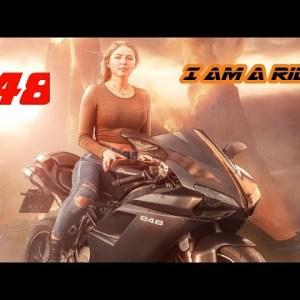 Cute Girl Riding Superbike | World Best Biker Girl | Kale Je Libaas Di Kaka Song | Race 2M
