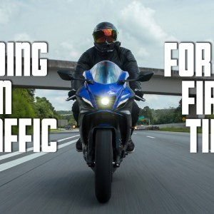Riding a motorcycle in TRAFFIC for the FIRST TIME! | Learn to Ride a MOTORCYCLE Series - Ep 05