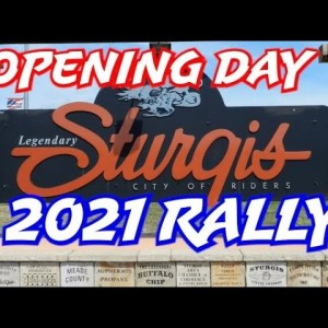 OPENING DAY EVENTS IN STURGIS MAIN STREET 2021 MOTORCYCLE RALLY