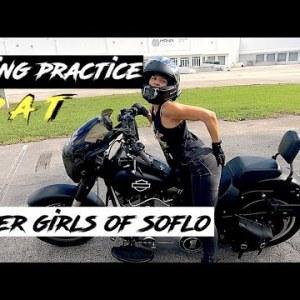 She Learns to Ride a Big Bike | Pat, the MSF Graduate | Biker Girls of South Florida | Motovlog