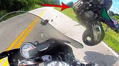 Bike FLEW Over His Head   Crazy Motorcycle Moments   Ep. 245