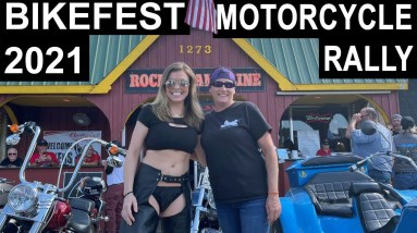 Bikefest Motorcycle Rally Strip Walk