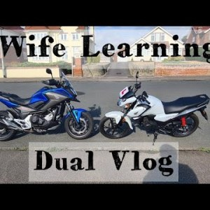 Wife Learning to Ride EP3 | Honda NC750X | CB125F | Dual Vlog | 400 Miles In