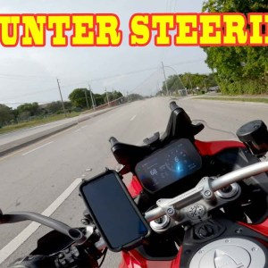 Motorcycle Counter Steering for Safety