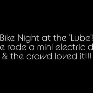 Sammie's first bike night!