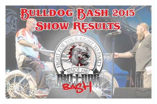 Bulldog Bash 2015 Show Results