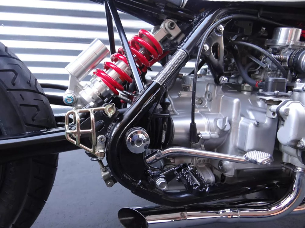 medium resolution of custom honda goldwing suspension shock and motor
