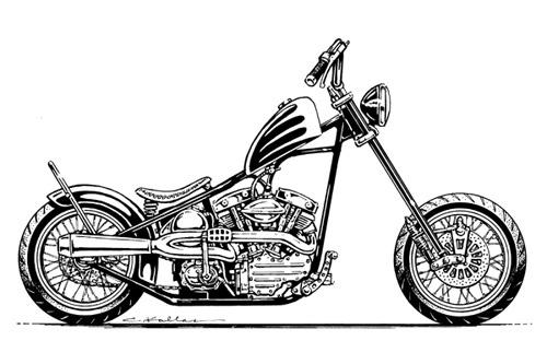 Bike Build Concept Illustration