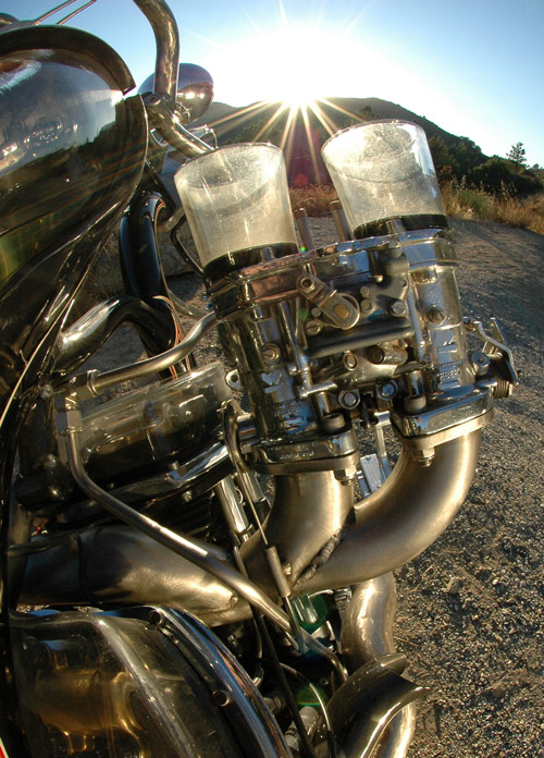 Glass Motorcycle Gas Tank